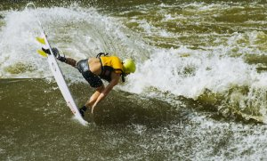 River Surfing v Afrike